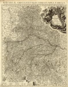 Le cercle de Baviere Divisée en touts les estats qui le Composent &c.