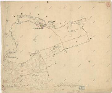 Katastrální mapa obce Tisová s osadou Trnová
