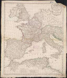 Orbis Romani pars occidentalis, auspiciis serenissimi principis Ludovici Philippi Aurelianorum ducis publici juris facta