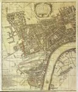 A new and exact plan of the city of London and suburbs thereof, 1