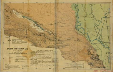 Cairo [Provisional map of the country North-west ] (1915)