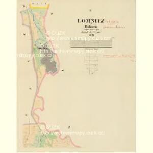 Lomnitz - c4219-1-002 - Kaiserpflichtexemplar der Landkarten des stabilen Katasters