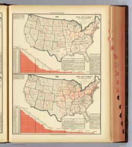17. 1870, 1880 area, settlement, territorial divisions, railways.