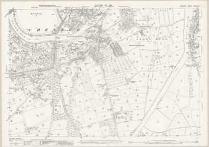Cheshire XXXVIII.15 (includes: Chester Castle; Chester; Huntington) - 25 Inch Map