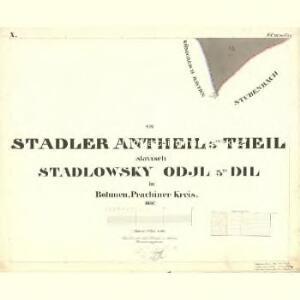 Stadler Antheil III. Theil - c2428-1-010 - Kaiserpflichtexemplar der Landkarten des stabilen Katasters