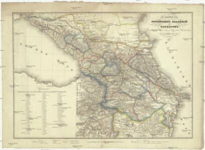 Karta Rossijskich vladěnij za Kavkazom