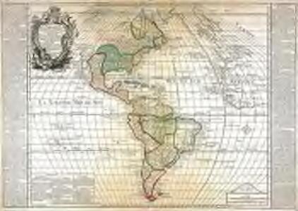 L'Amerique septentrionale et meridionale divisée selon les différentes possessions