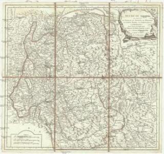 Duché de Savoye qui comprend le Chablais, le Fossigny, le Génovois, le Savoye propre, la Tarentaise et la Maurienne