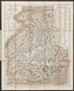 Uebersichts-Karte des Oetzthaler Gletscher-Gebietes