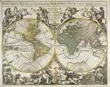 Mappe monde ou description du globe terrestre [et] aquatique