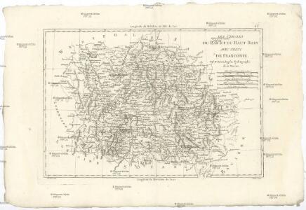 Les cercles du Bas et du Haut Rhin avec celui de Franconie