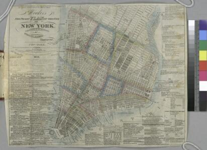 Hooker's new pocket plan of the city of New York / compiled & surveyed by William Hooker, engraver, No. 179 Water Street, New York, house, Willoughby St., Brooklyn.