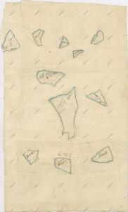 Geometrický plán rybníků na statku Bzí