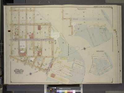 Brooklyn, Vol. 1, Double Page Plate No. 12; Part of   Ward 12, Section 2; [Map bounded by Henry St., Hicks St., Bay St.; Including     Halleck St., Erie Basin, Beard St. (Elizabeth St.), Dwight St., Bush St.]; Sub   Plan No. 1; [Map bounded by Bay St.