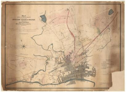 Map shewing...estate of Milton.
