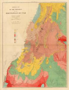 Geological map of the district of the high plateaus of Utah.