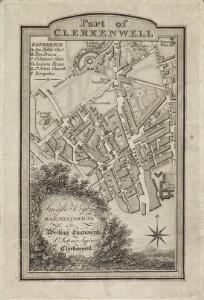 Trade Card Map of St Johns, Clerkenwell