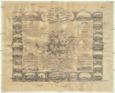 General Karte von der hochfürstlich von Metternich'schen Herrschaft Plass mit den vereinten Gütern Katzerow Kraschau u. Biela
