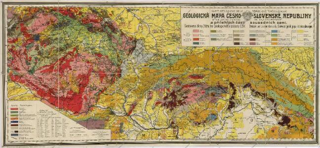 Geologická mapa Československé republiky a přilehlých částí sousedních zemí