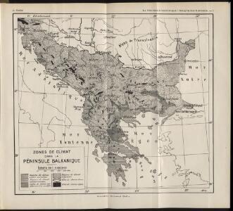 Zones de climat dans la peninsule balkanique