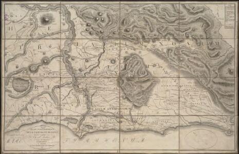 Plan topographique de la campagne de Rome