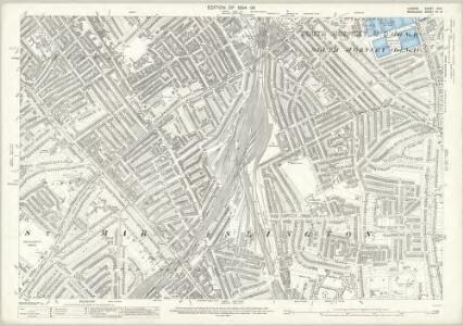 London (Edition of 1894-96) XXIX (includes: Hornsey St Mary; Islington; Stoke Newington) - 25 Inch Map