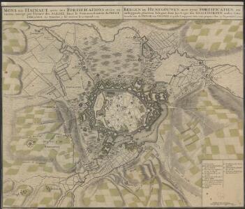 Mons en Hainaut, avec ses fortifications et ses environs: assiegé par l'Armée des Alliez, sous le Commendement du Prince d'Orange : la tranchée y fut ouverte le 25. Septemb. 1709