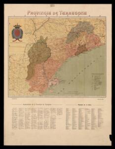 Provincia de Tarragona / per Benet Chías ; S. Poch gbo. ; Lit. Martin y Bañó