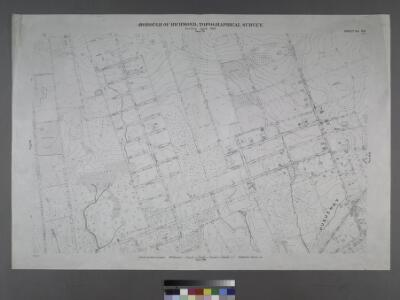 Sheet No. 83. [Includes (Arden Heights) Vineland Avenue, Stafford Avenue, Sinclair Avenue, Sheldon Avenue, Rensalaer Avenue, Rathun Avenue, Ramona Avenue, Ionia Avenue, Edgegrove Avenue, Detroit Avenue, Carlton Avenue, Burchard Avenue, Bradford Avenue, Amboy Road and Huguenot Avenue in Huguenot.]; Borough of Richmond, Topographical Survey.