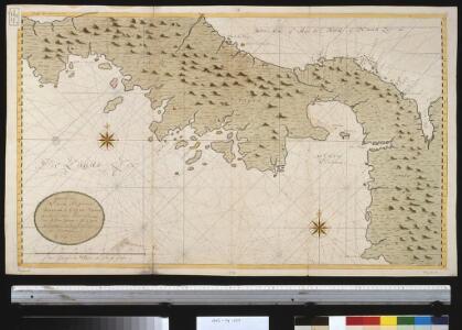 Een gedeelte van Nova Hispania vertoonende de Golf van Panama en t Land daer bewesten