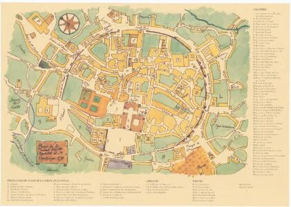 Facsímil: Plano de la Ciudad del Snto. Apostol el Sr. Santiago, 1750: reconstrucció del centre de la ciutat imitant un mapa antic