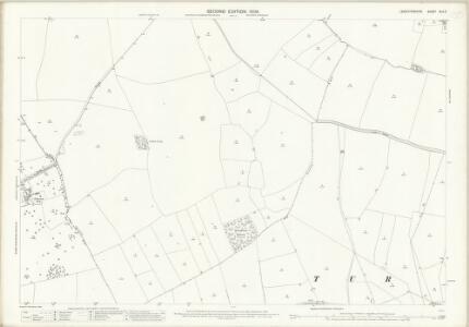 Leicestershire XLV.3 (includes: Carlton Curlieu; Kibworth Harcourt; Shangton; Tur Langton) - 25 Inch Map