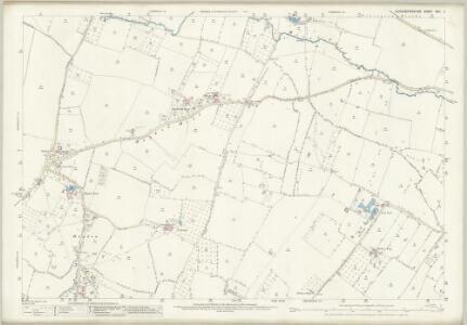 Gloucestershire XXVI.2 (includes: Boddington; Cheltenham; Staverton; Swindon; Uckington) - 25 Inch Map