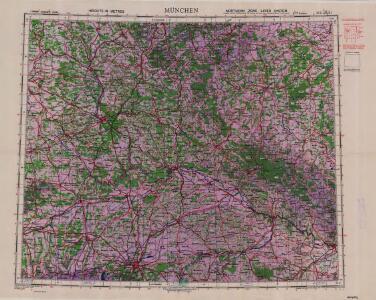 1:500,000 Europe (Air) G.S.G.S. No. 4072, Munchen