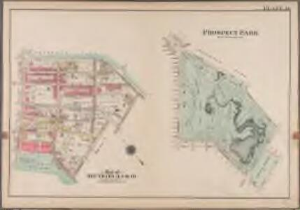 Plate 36: Prospect Park [Bounded by (Institute Park) Flatbush Avenue, Ocean Avenue, Caton Avenue, Coney Island Avenue, Seeley Avenue, Prospect Avenue, Terrace Place, (Greenwood Cemetery) Gavesend Avenue, 20th Street and Prospect Park West.]; Atlas of the borough of Brooklyn, city of New York: from actual surveys and official plans by George W. and Walter S. Bromley.