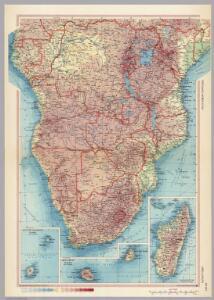 Africa - South.  Pergamon World Atlas.