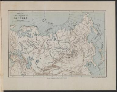 Map of the conquest of Siberia
