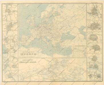 Eisenbahn - Routen - Karte von Mittel - Europa