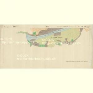 Prerau (Přerow) - m2453-1-014 - Kaiserpflichtexemplar der Landkarten des stabilen Katasters