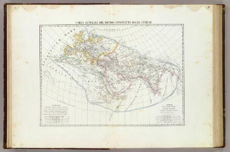 Carta generale del mondo conosciuto dagli antichi.