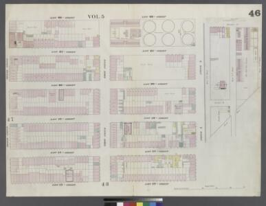 Plate 46: Map bounded by East 22nd Street, East River, East 20th Street, Avenue A, East 17th Street, Second Avenue