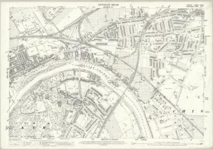 London (Edition of 1894-96) LXXXIV (includes: Chiswick St Nicholas; Kew; Mortlake; North Sheen; Old Brentford) - 25 Inch Map