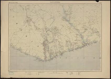 Carte de la Côte d'Ivoire dressée par A. Meunier. Sassandra
