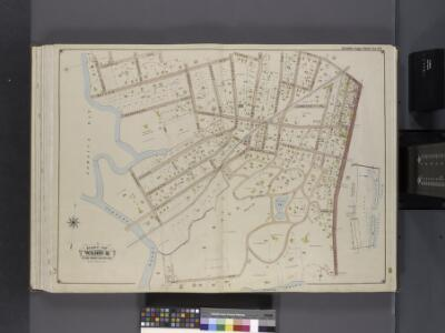 Queens, V. 1, Double Page Plate No. 23; Part of Far Rockaway, Ward 5; [Map bounded by Cornell Ave., Clinton Ave., Mott Ave., Central Ave., Bay Ave., Norton's Creek]