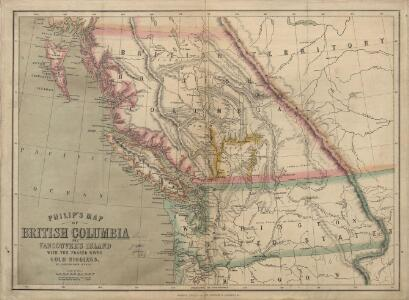 Philip's Map of British Columbia and Vancouver Island