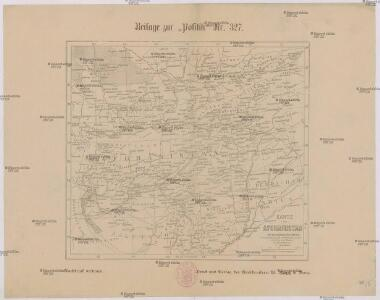 Karte von Afghanistan und den angrenzenden Gebieten