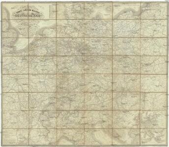 Hendschel's Post u. Reise Karte von Deutschland und den Nachbar-Staaten bis London, Paris, Montpellier, Florenz, Warschau, Kopenhagen &