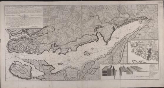 Plan de la ville et du port Mahon et du fort St. Philippe tel qu'il étoit fortifié en 1706 par les Espagnols