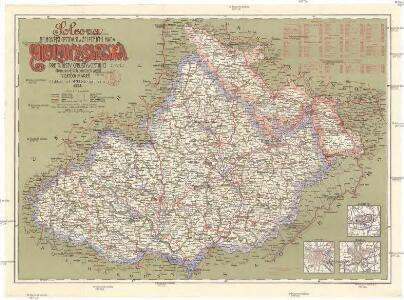 Šolcova nejnovější cestovní a železniční mapa Moravy a Slezska