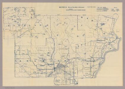 Section 8. Bicycle Road Map of Wisconsin.
